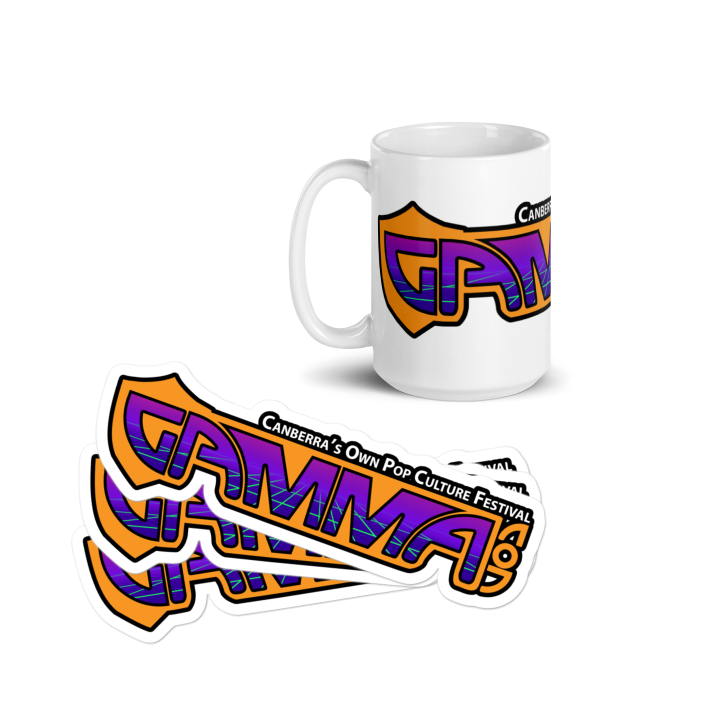 GAMMA.CON merchandise for sale at https://streamlabs.com/gammacon/merch/